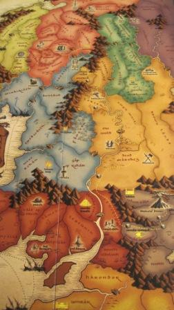 The Risk: Lord of the Rings board game