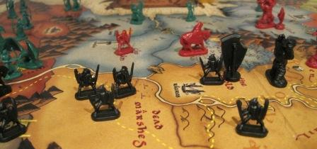 Risk: Lord of the Rings board game pieces