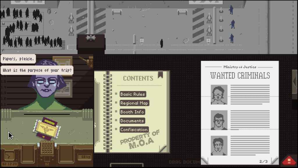 Checking credentials in Papers, Please