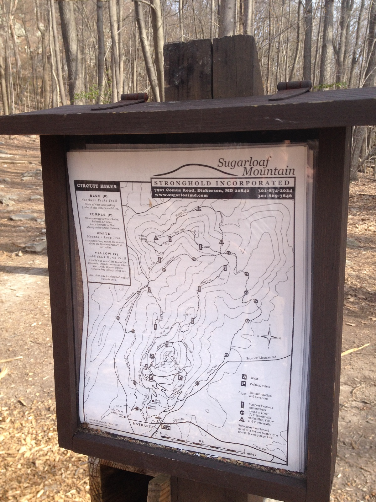 Sugarloaf Mountain Sign