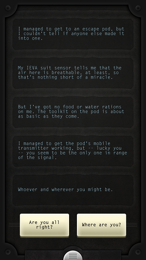 Lifeline interactive fiction