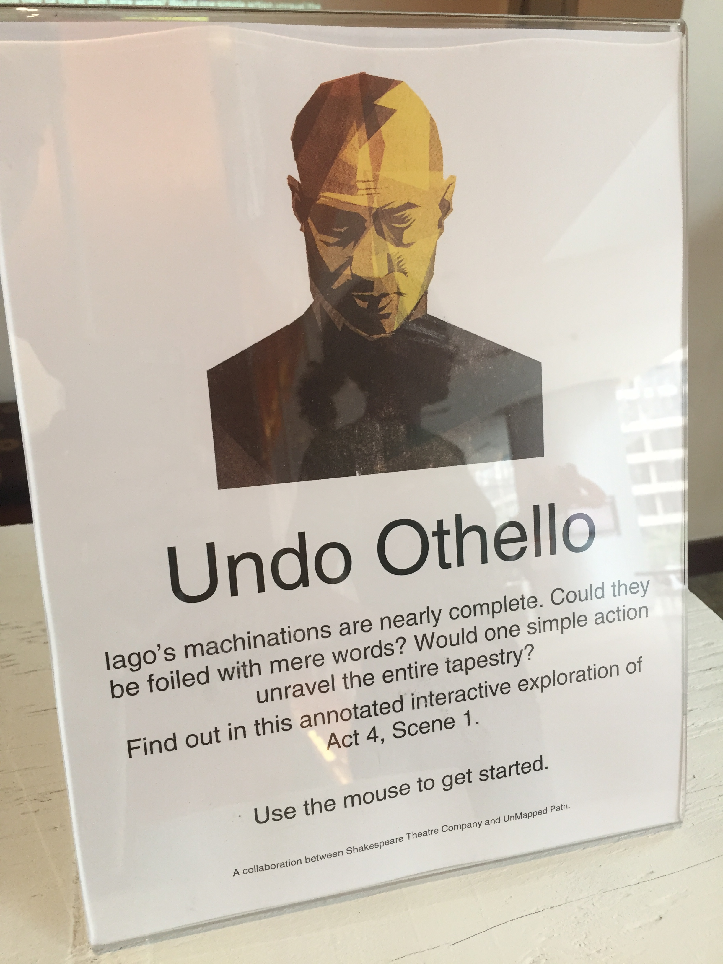 Undo Othello Lobby Sign