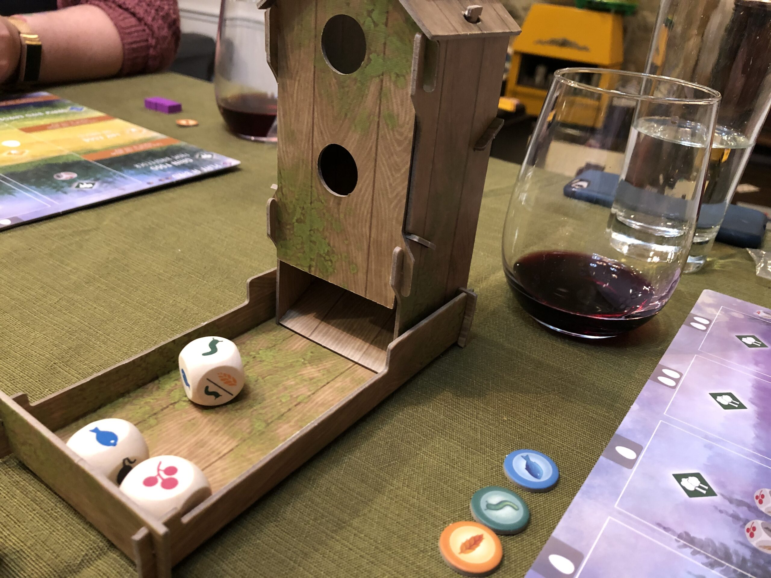 Wingspan board game's dice tower