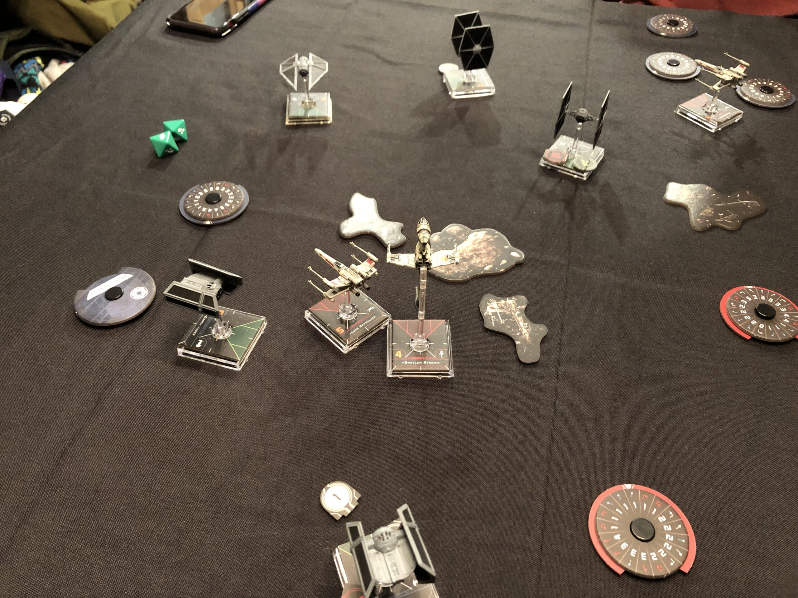 X-Wing Miniatures Game, in pitched battle