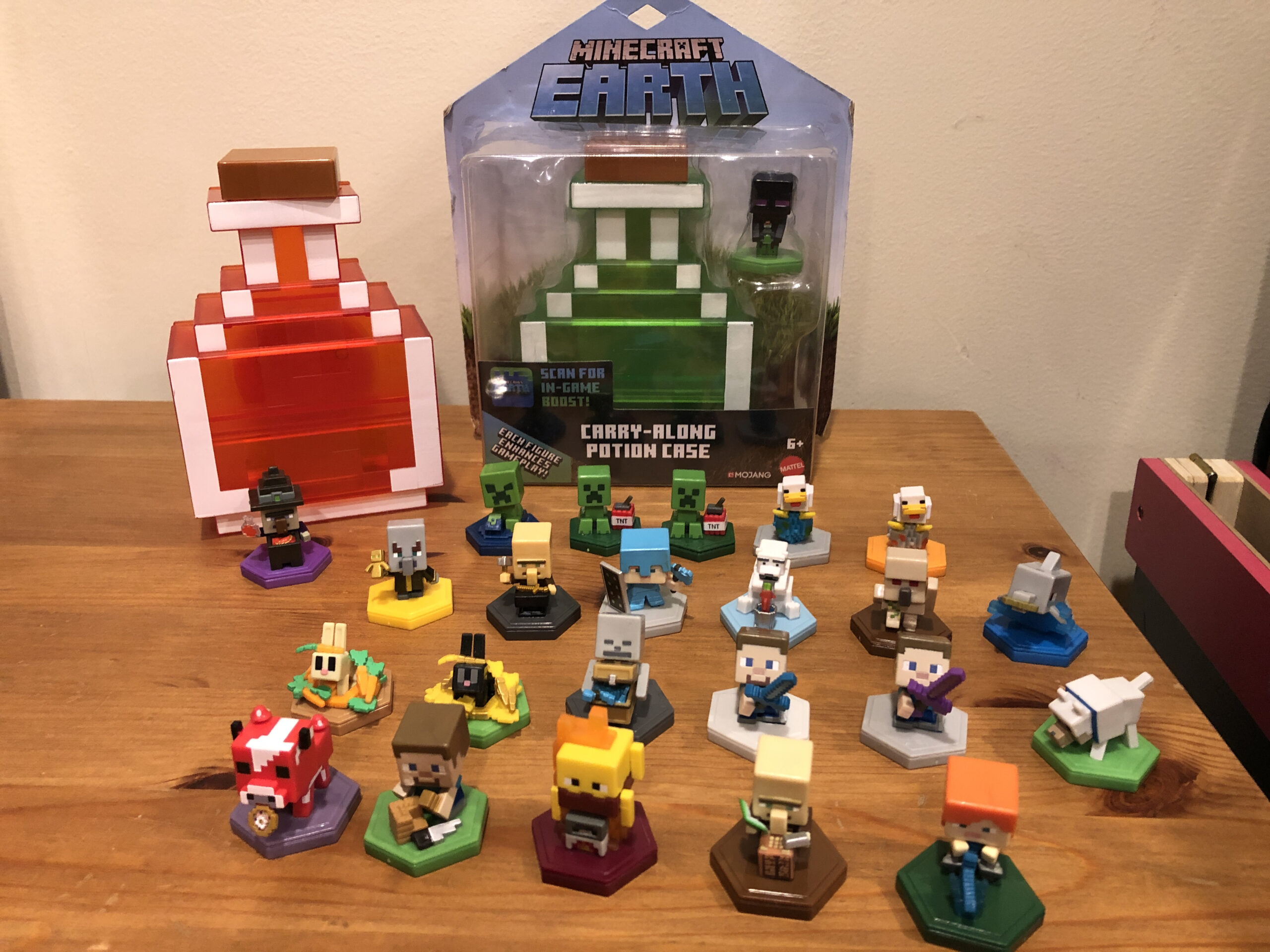 My Minecraft Earth boost mini collection. I wonder if they're worth eBaying...