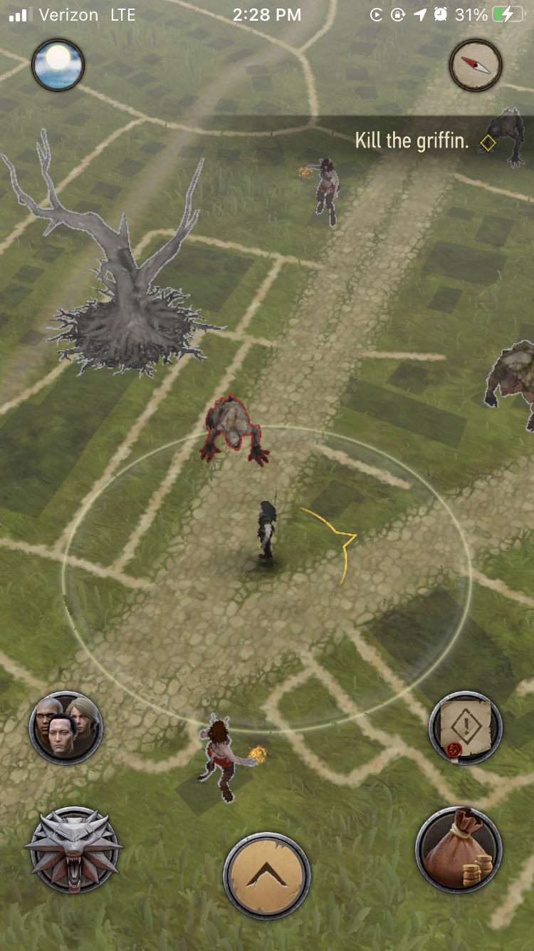 The game map The Witcher: Monster Slayer which overlays a map of the real world.